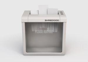 3D office paper shredder