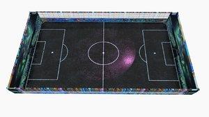 3D model football court street