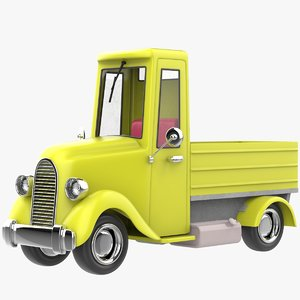 3D cartoon truck pickup