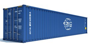 shipping container cosco 3D model