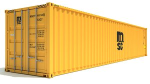 3D shipping container msc model