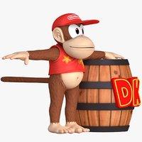 Diddy Kong Character Donkey Kong Assets