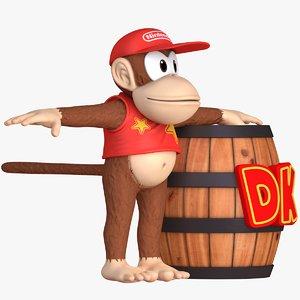 3D kong character - donkey