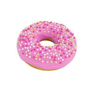 3D pink glazed donut