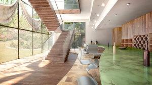 3D model architectural interior