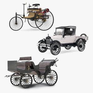 vintage transport 2 carriage 3D model
