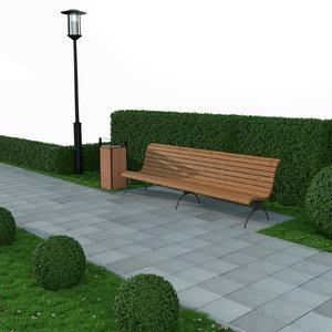 3D park elements