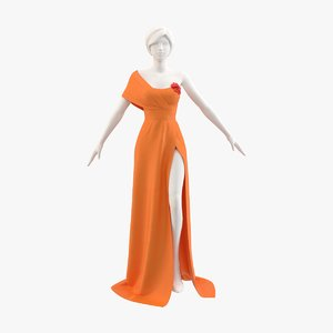 dress gown 3D model