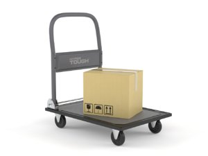 3D model folding platform truck