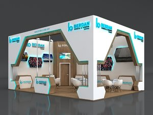 stall height 400 cm 3D