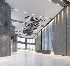 hallway interiors v-ray 3D