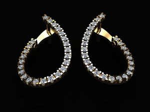 jewellery earing 3D model