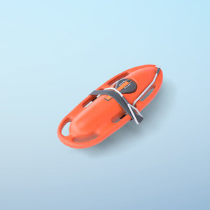 3D pbr lifeguard rescue buoy