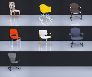 7 chairs 3D model