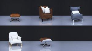 3D stool seating furniture