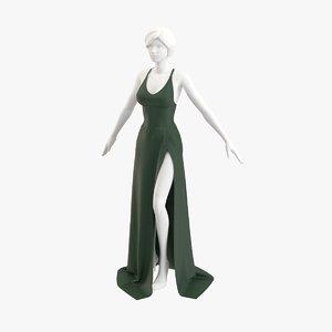 3D dress gown