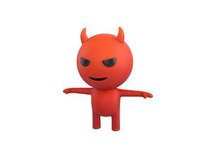 3D devil character model