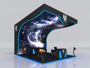 stall height 500 cm 3D model