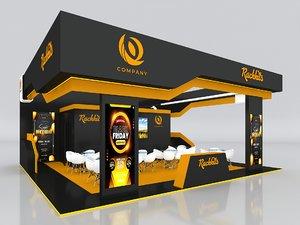 3D stall height 400 cm model