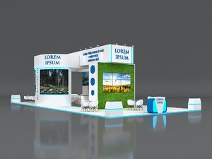 3D stall height 500 cm model