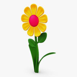 cartoon flower v 1 3D