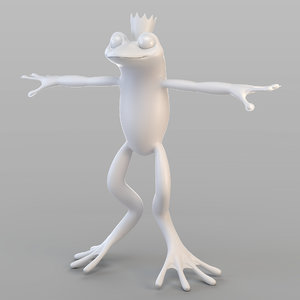 3D frog prince rigging animation
