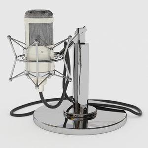 3D studio tube microphone neuman