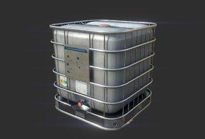 3D model square water tank