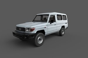 3D car toyota land cruiser model