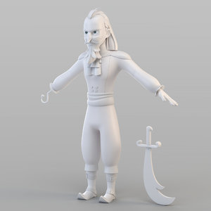 captain pirate 3D model