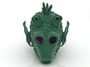 darth vader head greedo 3D model