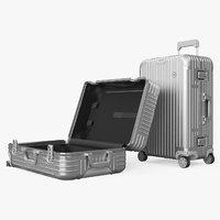 Travel Suitcase Rimowa Original Check-In Silver