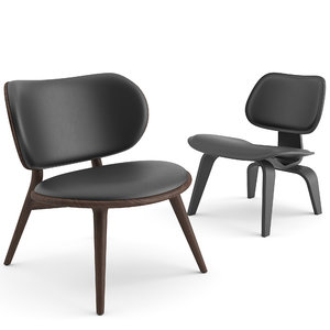 3D model armchairs lounge chair vitra