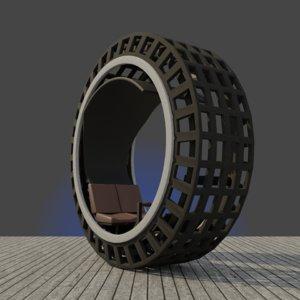 monowheel dynasphere 3D model