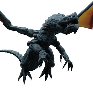 3D astral dragon scales model