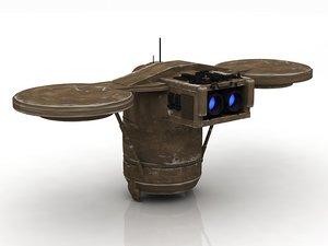3D model lift droid transpoter