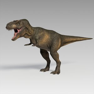 3D t-rex rigged model