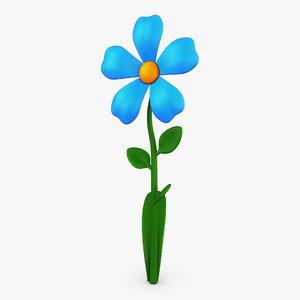 3D cartoon flower v 2
