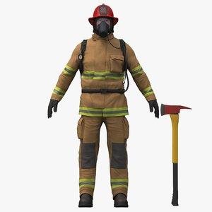 3D fireman pbr