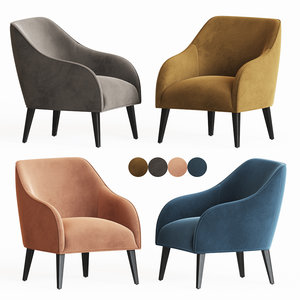 accent occasional chairs laforma 3D model