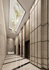 hallway interiors 3D model