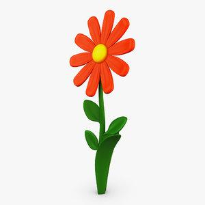 3D cartoon flower v 3