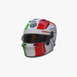 3D giovinazzi 2020 helmet model