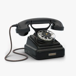 soviet rotary dial telephone 3D