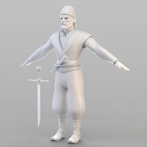 3D ottoman lieutenant
