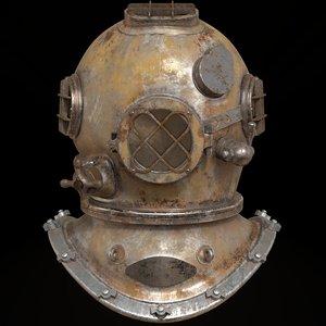 3D deep sea helmet model