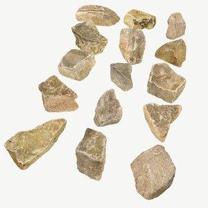 stones photogrammetry 3D model
