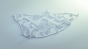 3D old town model
