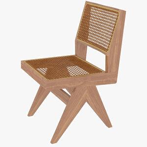 capitol complex chair jeanneret 3D