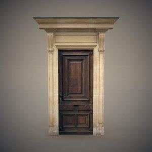wooden door frame 3D
